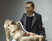 Sam Jinks Still Life Pieta 2007 silicone fabric and human hair 160 x 123 x 60cm edition of 3 + 2AP 5