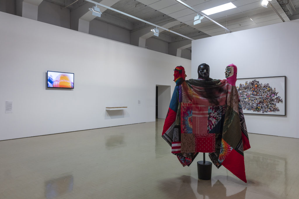 Installation view of Jemima Wyman's work in Iconography of Revolt, City Gallery Wellington, 2018
