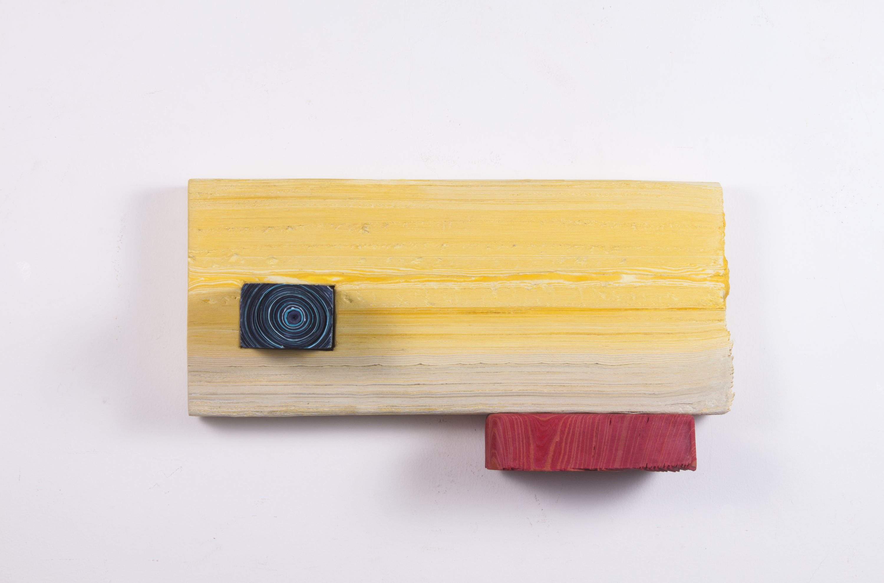 Three Blocks of Wood in Primary Color