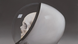 Sam Leach 'Helmet with Skull'