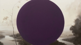Sam Leach 'Landscape with Magenta Circle'