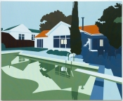 Joanna Lamb Suburban House 10 Acrylic on canvas 150 x 180 cm