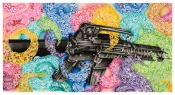 eX de Medici Big Fantasy M16 2015 watercolour on paper 114 x 214cm